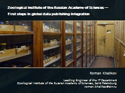 Zoological Institute of the Russian Academy of Sciences