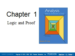 Chapter 1 Logic and Proof