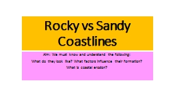 Rocky vs Sandy Coastlines