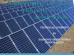 SOLAR POWER SOLUTION FOR PETROL PUMP