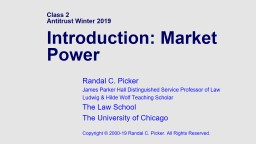 Class 2 Antitrust Winter 2019 PowerPoint PPT Presentation