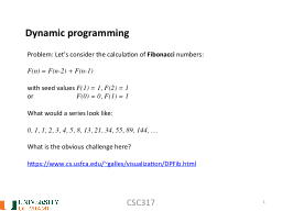 CSC317 1 Dynamic programming