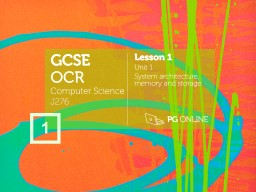 4 GCSE OCR Computer Science