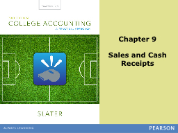 Chapter 9 Sales and Cash
