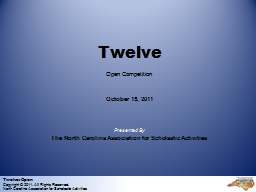 Twelve: Open Copyright © 2011. All Rights Reserved.