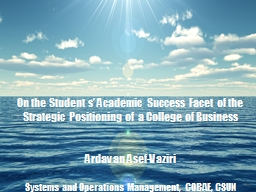 On  the  Student  s' Academic Success