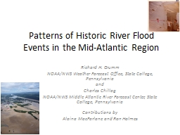 Patterns of Historic River Flood Events in the Mid-Atlantic Region