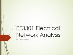 EE3301 Electrical Network Analysis