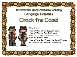 Inferential   and   Problem