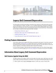 Legacy QoS Command Deprecation KH IXQFWLRQDOLW SURYLGH PowerPoint PPT Presentation