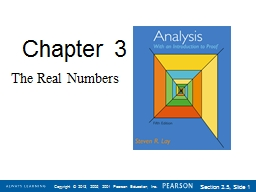 Chapter  3 The Real Numbers