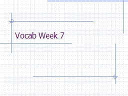 Vocab  Week 7 priggish (