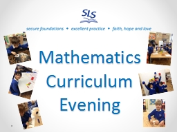 Mathematics   Curriculum Evening
