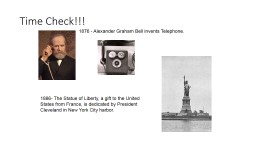 Time Check!!! 1876 - Alexander Graham Bell invents Telephone.