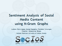 Sentiment Analysis of Social Media Content PowerPoint PPT Presentation