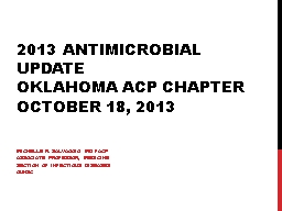 2013 Antimicrobial Update