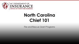 Fire and Rescue Grant Programs