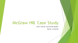 McGraw Hill Case Study Grant