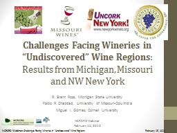 "Challenges Facing Wineries in ""Undiscovered"" Wine Regions"