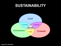 SUSTAINABILITY Image from Wiki Media