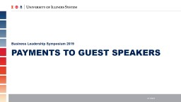 PAYMENTS TO GUEST SPEAKERS