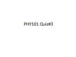 PHY101 Quiz#3 1.  A block is suspended from the ceiling by a long, thin strip of tungsten metal.  T
