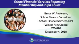 School Financial Services Reporting