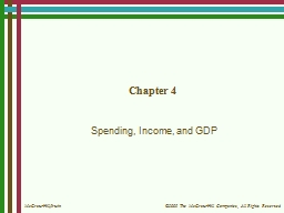 Chapter 4 Spending, Income, and GDP
