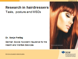 Research in hairdressers