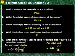 5-Minute Check on Chapter