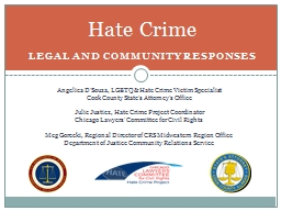 Hate Crime Legal and community
