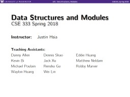 Data Structures and Modules