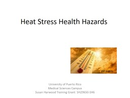 Heat  Stress Health Hazards