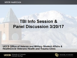 TBI Info Session &  Panel PowerPoint PPT Presentation
