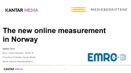 The new online measurement
