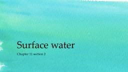 Surface water PowerPoint Presentation, PPT - DocSlides