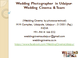 Wedding Photographer in Udaipur-Wedding Cinema & Team