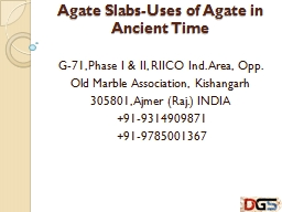 Agate Slabs-Uses of Agate in Ancient Time