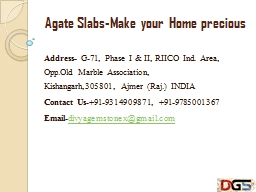 Agate Slabs-Make your Home precious