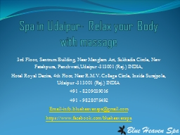 Spa in Udaipur- Relax your Body with massage
