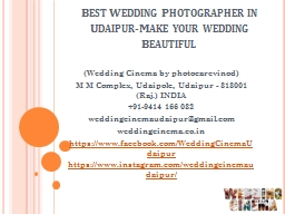 Best Wedding Photographer in Udaipur-Make your wedding Beautiful