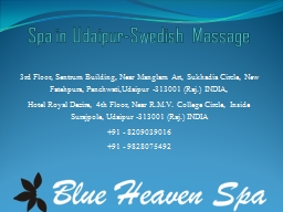 Spa in Udaipur-Swedish Massage