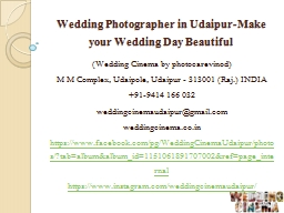 Wedding Photographer in Udaipur-Make your Wedding Day Beautiful