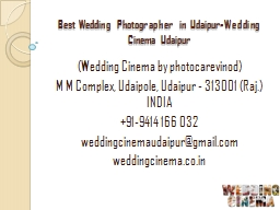 Best Wedding Photographer in Udaipur-Wedding Cinema Udaipur