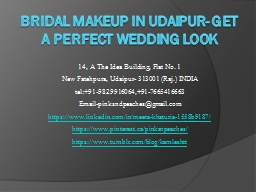 Bridal Makeup in Udaipur- Get A Perfect Wedding Look