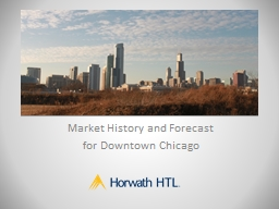 Market  History and Forecast  for Downtown Chicago  1920's Chicago had as many rooms as it does now, though many closed by the 1960's.  From then, new hotels were built, pushing up rates. PowerPoint PPT Presentation