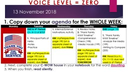 13 November 2018 2. Next,  complete your  C-WOW house   in PowerPoint PPT Presentation