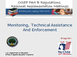 U.S. Department of Education Office of Special  Education  Programs
