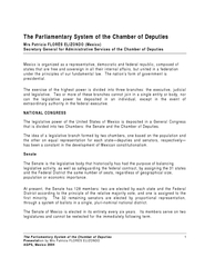 The Parliamentary System of the Chamber of Deputies Pr
