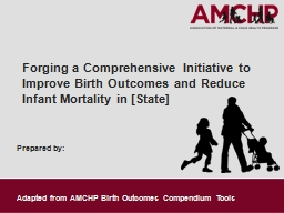 Prepared by: Forging a Comprehensive Initiative to Improve Birth Outcomes and Reduce Infant Mortality in [State]